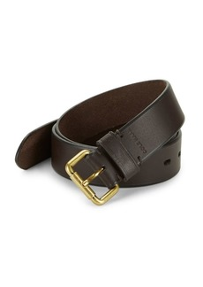 Cole Haan Beveled Edge Leather Belt