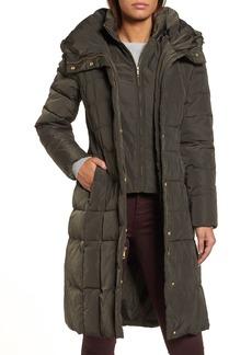 Cole Haan Bib Insert Down & Feather Fill Coat (Regular & Petite)