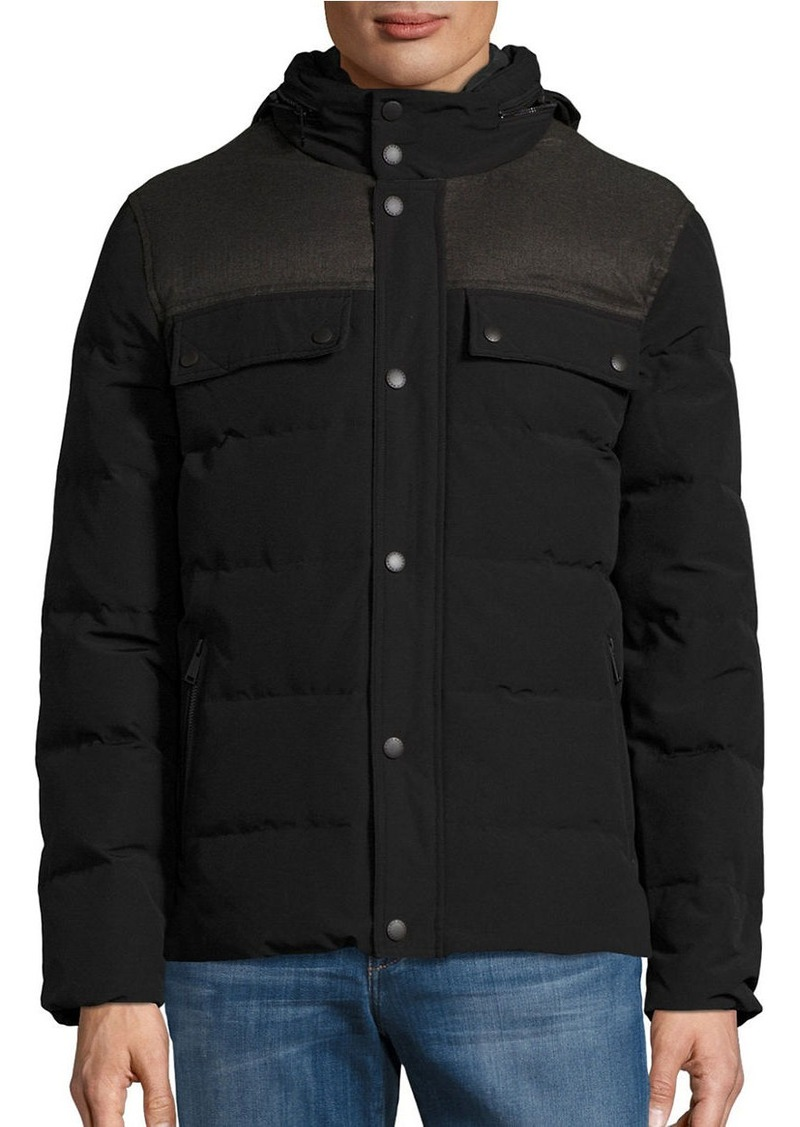 COLE HAAN Quilted Down Military Jacket