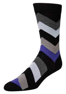Cole Haan Big Chevron Crew Socks
