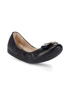 Cole Haan Bow Leather Ballet Flats