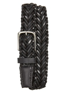 Cole Haan Braided Leather & Cord Belt
