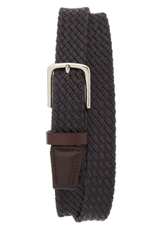 Cole Haan Braided Leather & Jute Belt