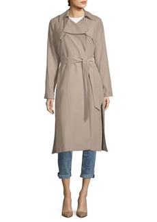 Cole Haan Notch Lapel Belted Trench Coat