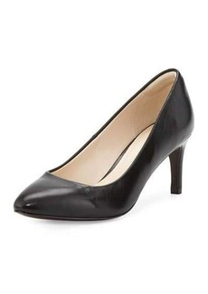 Cole Haan Carla Grand.OS Leather Pointed-Toe Pump