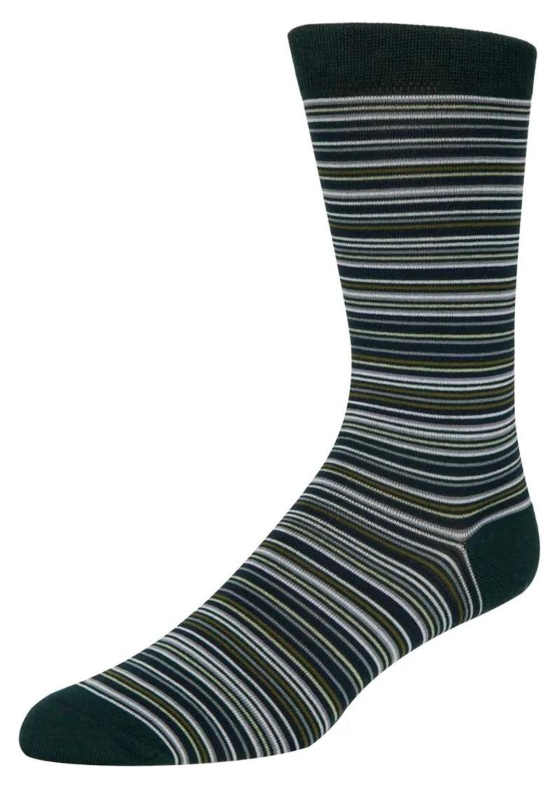 Cole Haan Striped Crew Socks