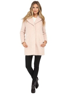 Cole Haan Cocoon Coat with Knotch Collar