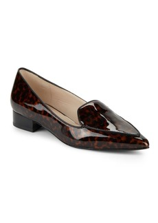 Cole Haan Dellora Leather Smoking Flats