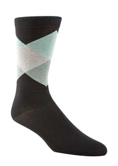 Cole Haan Diamond Patterned Crew Socks