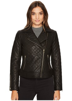 Diamond Quilted Moto w/ Exposed Zippers