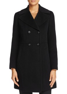 Cole Haan Double-Breasted Notched Collar Coat