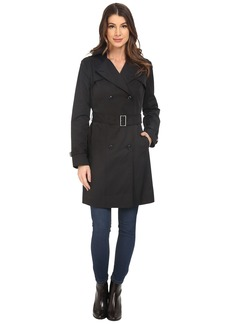 Cole Haan Double Breasted Trench Coat w/ Printed Lining