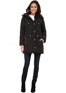 Cole Haan Down Anorak with Faux Fur Trimmed Hood