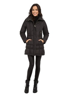 Cole Haan Down Coat with Cinch Bottom and Large Collar