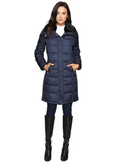 Cole Haan Down Coat with Rabbit Faux Fur Removable Collar