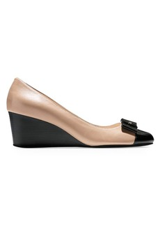 Elsie Bow Leather Wedge