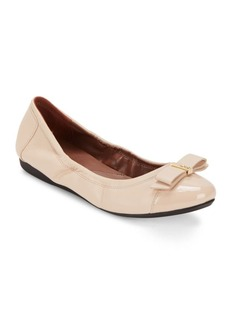 Cole Haan Elsie Cap-Toe Leather Ballet Flats