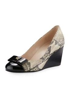 Cole Haan Elsie Grand Snake-Print Wedge Pump