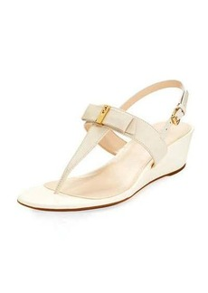 Cole Haan Elsie II Leather Bow Wedge Sandal