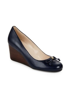 Cole Haan Elsie Leather Wedge Pumps