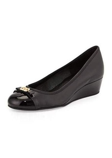 Cole Haan Elsie Patent Cap-Toe Wedge Pump