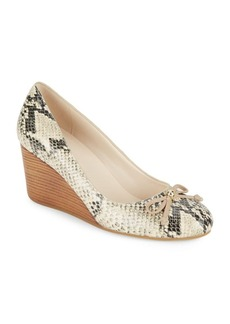 Cole Haan Elsie Python-Embossed Wedge Pumps