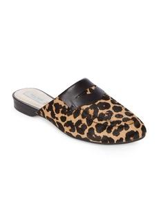 Cole Haan Evie Amlex Leopard-Print Calf Hair Fur Mules