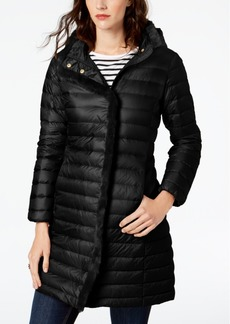 Cole Haan Faux-Fur-Trim Hooded Puffer Coat