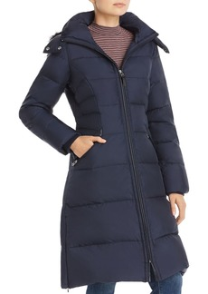Cole Haan Faux Fur-Trim Puffer Coat