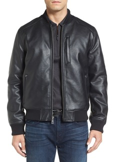 Cole Haan Faux Leather Varsity Jacket