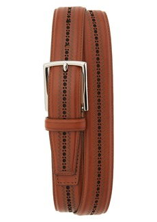 Cole Haan Feather Edge Stitched Belt