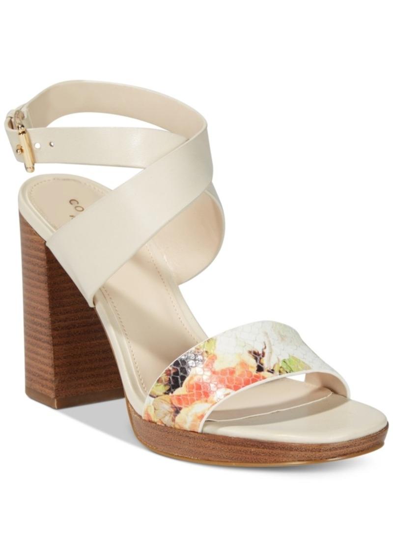 7720bafcd11 On Sale today! Cole Haan Cole Haan Fenley Strappy Block-Heel Sandals ...