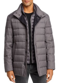 Cole Haan Flannel Down Jacket