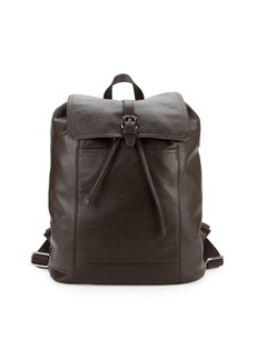 Cole Haan Flap Leather Backpack