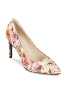 Cole Haan Floral Leather Pumps