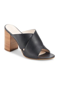 Cole Haan Gabby Leather Block Heel Sandals