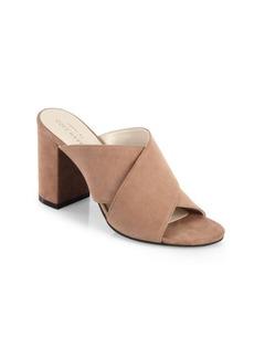 Cole Haan Gabby Suede Block Heel Sandals