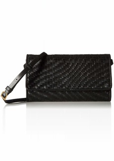 Cole Haan Genevieve Leather Woven SMARTHPHONE Crossbody Bag