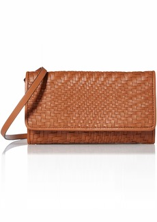 Cole Haan Genevieve Leather Woven SMARTHPHONE Crossbody Bag collection brown