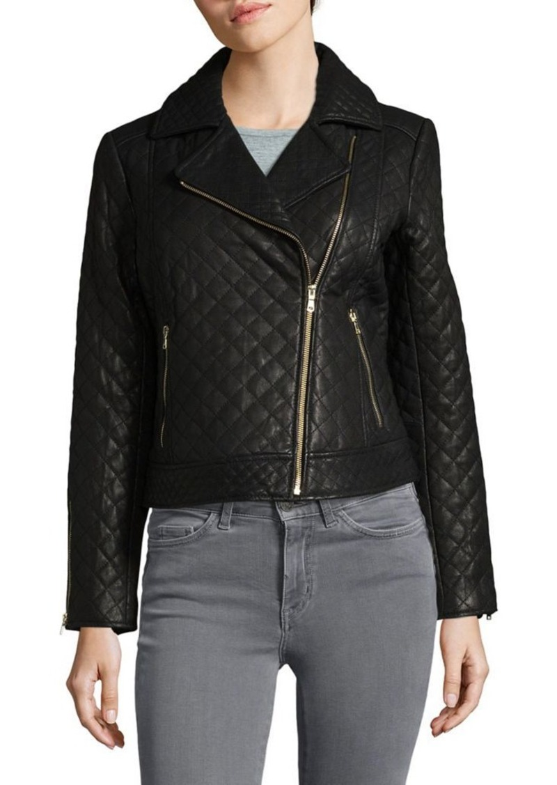 84b8eef42d On Sale today! Cole Haan Cole Haan Quilted Leather Moto Jacket