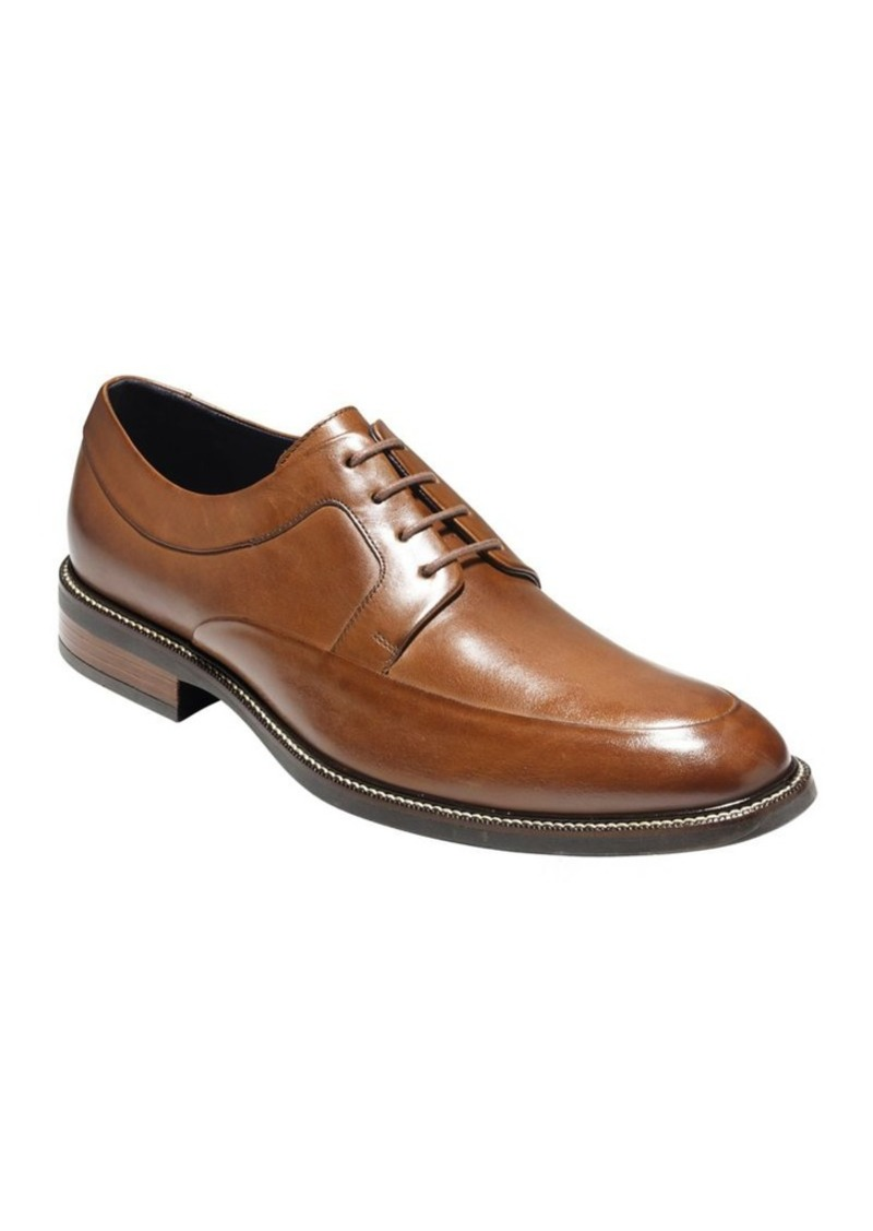 Cole Haan Hartsfield Apron-Toe Leather Oxfords