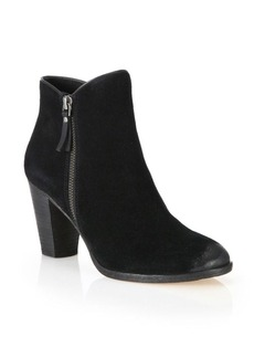 Cole Haan Hayes Suede Zip Ankle Boots