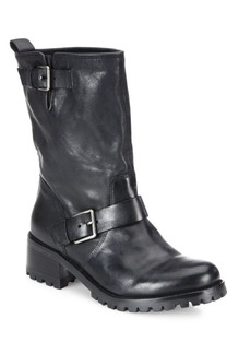 Hemlock Leather Moto Boots