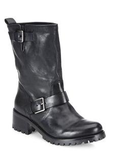 Cole Haan Hemlock Leather Moto Boots