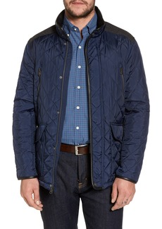 Cole Haan Herringbone Yoke Quilted Jacket