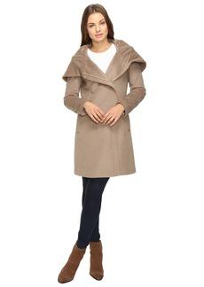 Cole Haan Hooded Asymmetrical Zip Front Coat