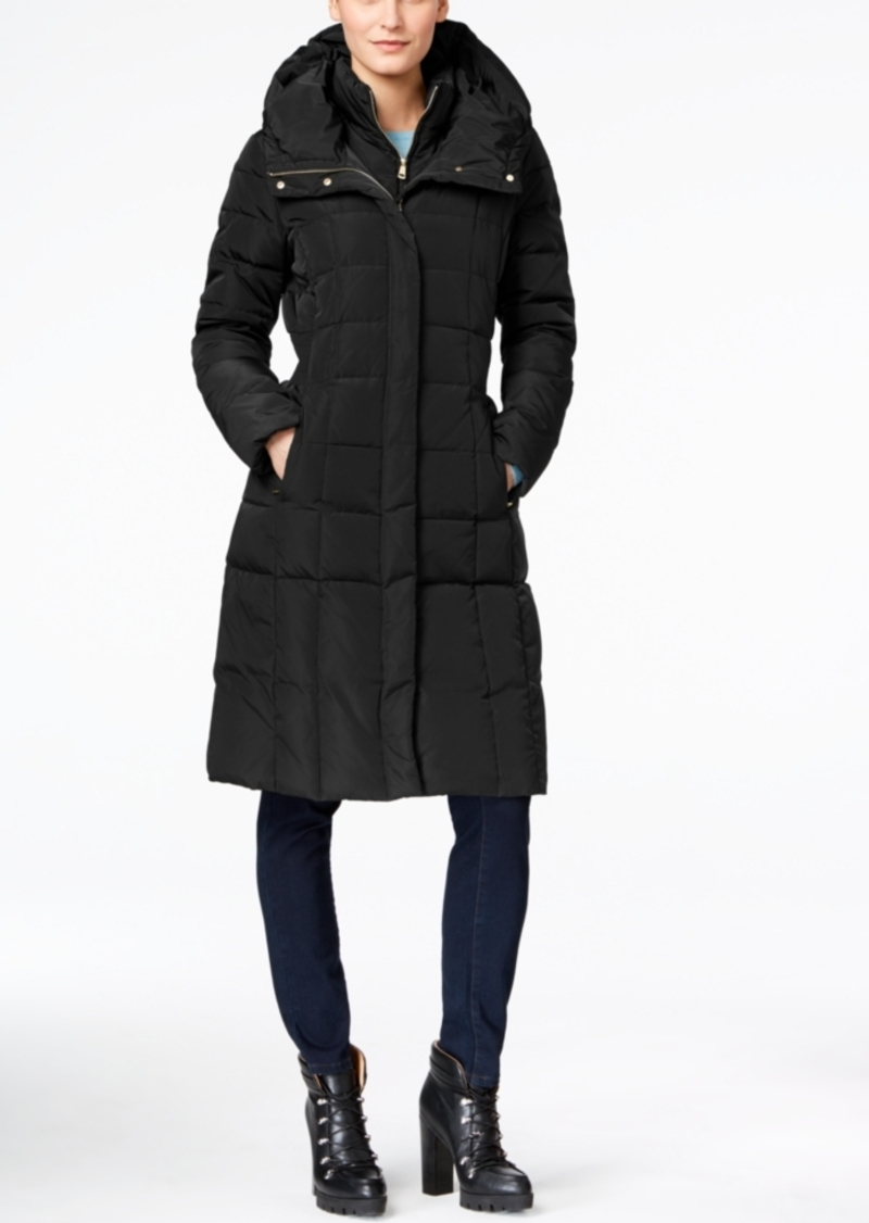 Cole Haan Signature Hooded Long Down Puffer Coat with Vestee