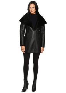 Cole Haan Cole Haan Hooded Shearling Car Coat | Outerwear - Shop ...
