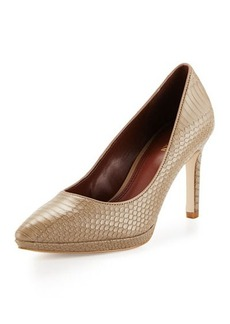 Cole Haan Idala Snake-Embossed Pointed-Toe Pump
