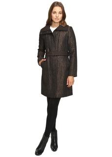 Cole Haan Italian Jacquard Genevieve Weave Coat